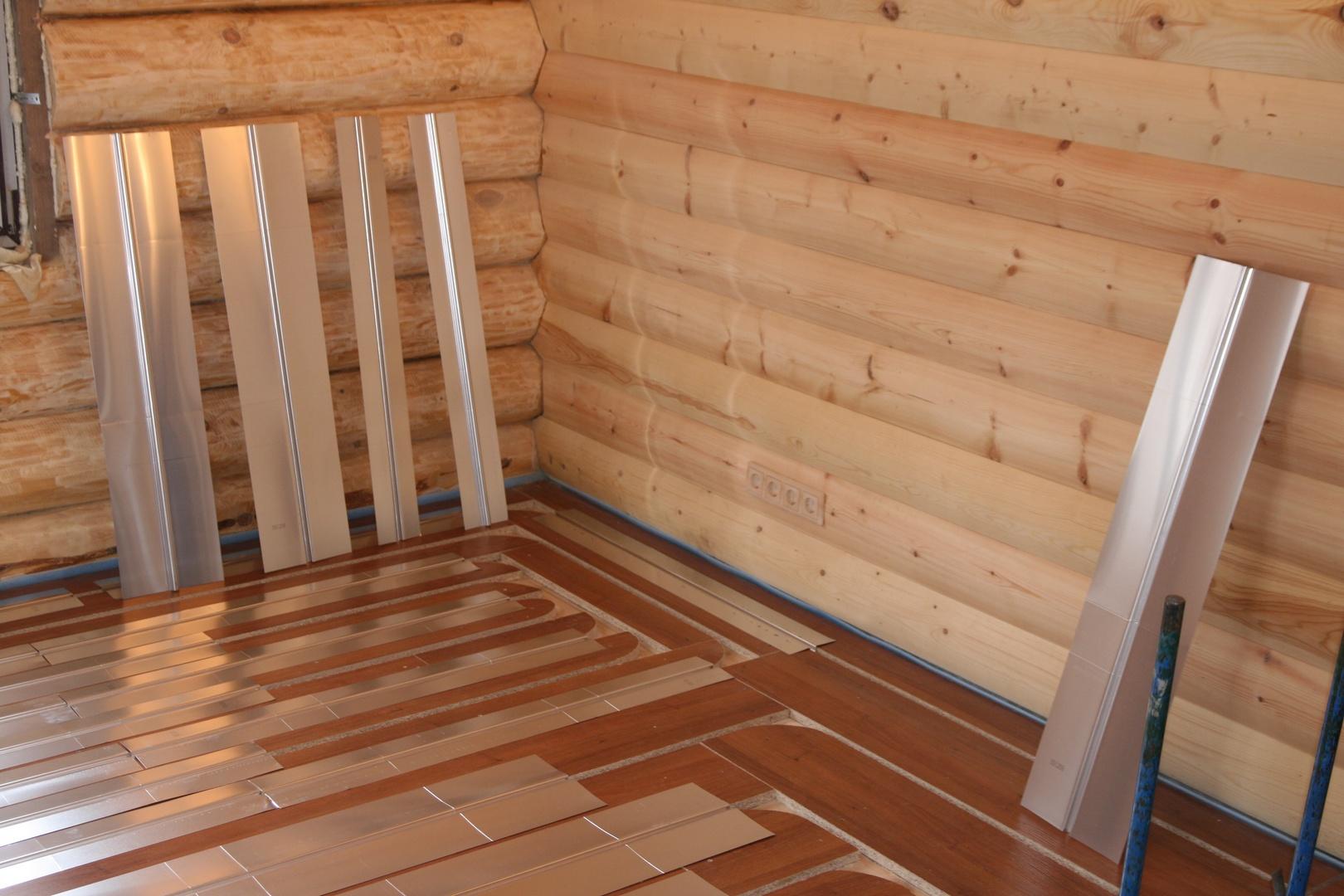 Как сделать теплые полы от водяного отопления в деревянном доме